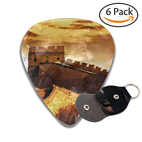 Colby Keats Guitar Picks Plectrums Golden Sunshine Great Wall Classic Electric Celluloid Acoustic For Bass Mandolin Ukulele 6 Pack 3 Sizes .71mm]()