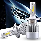 C6 H-4 All In One Compact Design 36W/3800LM LED Headlight Conversion Kit Car High/Low Beam Bulb Driving Lamp 6000K (2 Pcs)