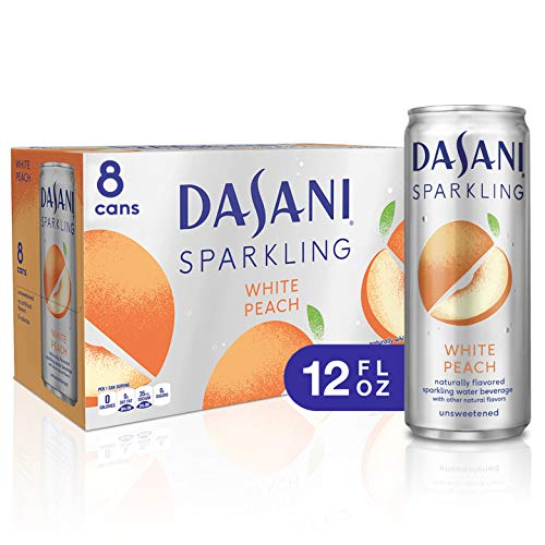 DASANI Sparkling, White Peach, 12 fl oz, 8 Pack ()