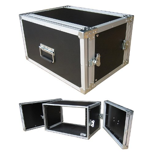 6 Space 6u 12 Inches Deep Medium Duty 1/4 Inch ATA Effects Rack Case - Closeout by Roadie Products, Inc.