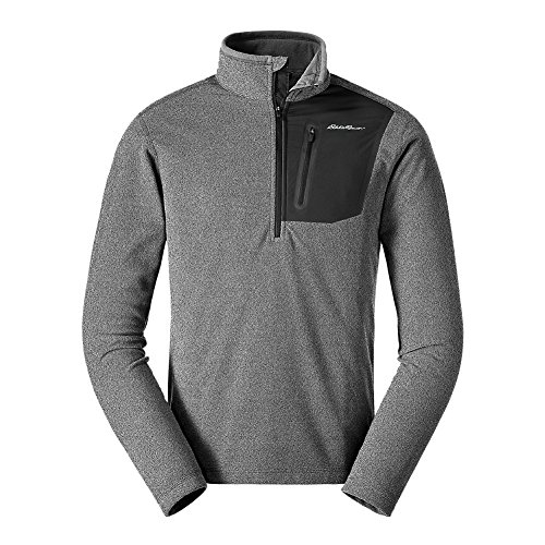 Men Pullover (Eddie Bauer Men's Cloud Layer Pro 1/4-Zip Pullover, Htr Gray XL)