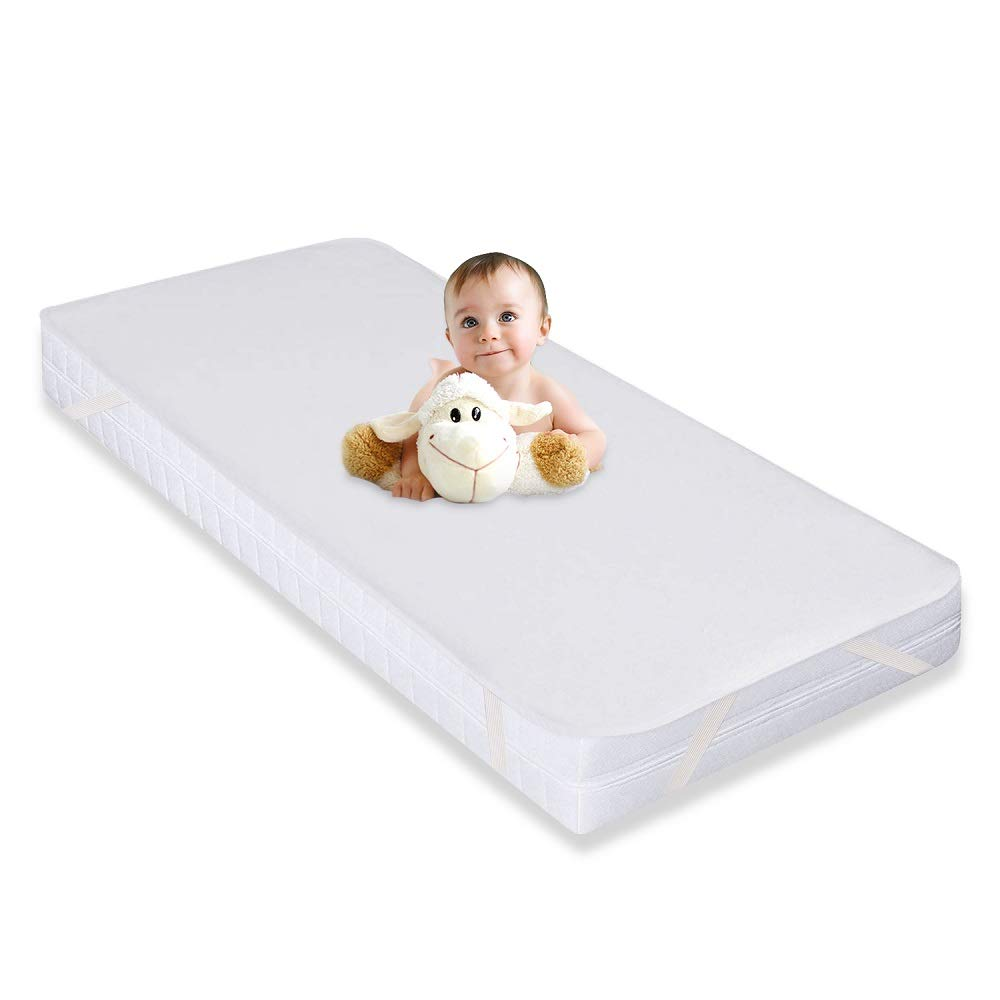 70x140 Yoofoss Coprimaterasso Impermeabile Culla Coprimaterasso di Cotone Lenzuolo Culla//Lettino e Proteggi Materasso per Lettino