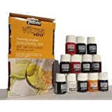 "Pebeo Vitrea 160 ""I paint on Glass"" Paints - 12 paints Starter Set"