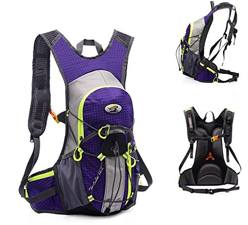 8L + 2L Hydration Bladder Cycling Hydration Back Pack Bag Water Bottle mountain Hiking Bicycle MTB Bike Back Pack Bag Packing Organizers for Bicycle Men Women (Purple)