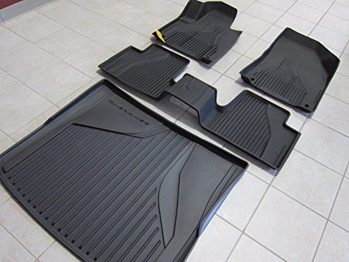 (Jeep Cherokee All Weather Black Slush Mats and Cargo Tray Mopar OEM)