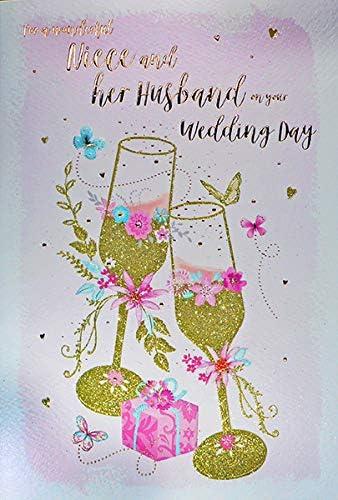 Tarjeta de felicitación de boda para sobrina y marido: Amazon.es ...