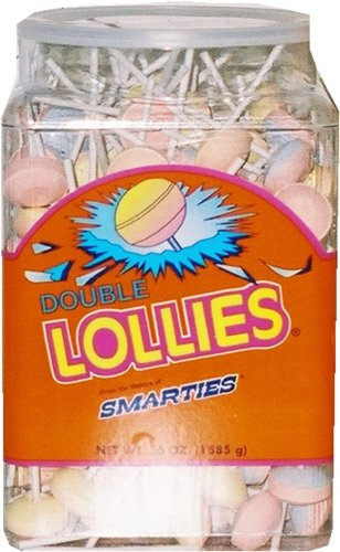Double Lollipops - Smarties Double Lollies, 200 Count, 56 Ounce
