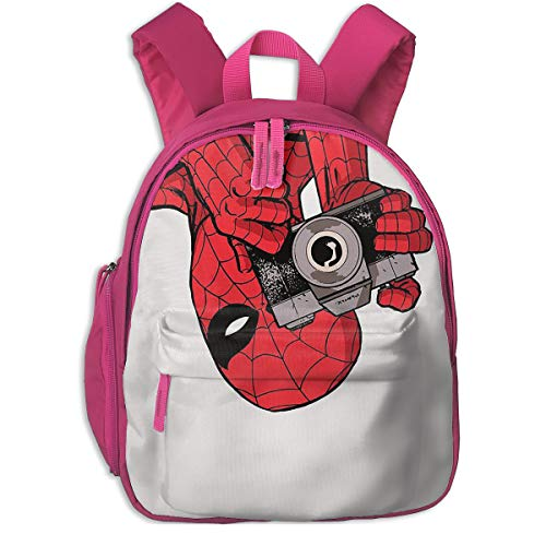 LBZSJB Unisex Kids Oxford Fabric Travel School Backpack Spider-Man Children Bookbag