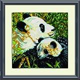 Tobin DW2522 Needlepoint Kit, 10 by 10-Inch, Pandas