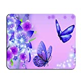 Purple Butterfly Customized Rectangle