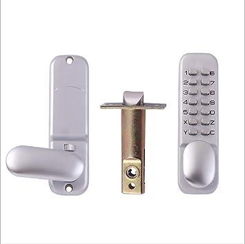 OneMoreT - Bloqueo de puerta con botón de pulsación digital y cerradura de combinación: Amazon.es: Instrumentos musicales