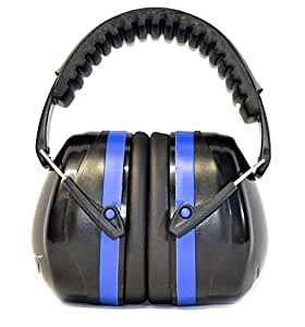 G & F 12010 34dB Highest NRR Safety Ear Muffs - Professional Ear Defenders for Shooting, Adjustable Headband Ear Protection, Shooting Hearing Protector Earmuffs Fits Adults to Kids, Blue