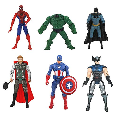 Lot x 6 Action Figure New The Avengers Hulk Captain America Thor Iron Man Movie