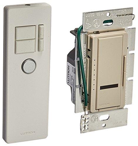 Lutron MIR-600MT-TP Maestro IR 600-Watt Multi-Location Dimmer with IR Remote Control, Taupe