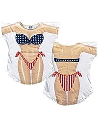 0524d44484 Stars   Stripes Bikini Cover-Up T-Shirt Size ...