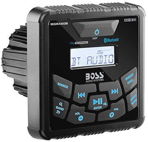 amazon com: boss audio mckgb350b 6 receiver/speaker package, bluetooth,  mp3/usb/am/fm marine stereo, (no cd/dvd), two 6 5 inch speakers, antenna:  boss