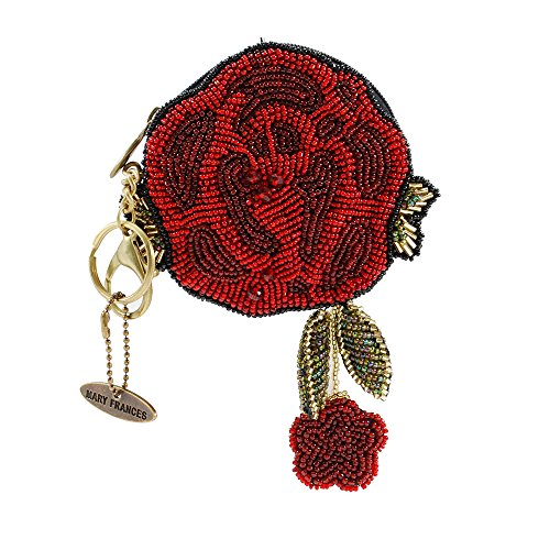 MARY FRANCES Beaded Key Fob/Coin Purses (Red -