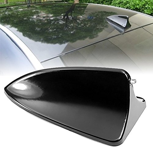 Hot Black Shark Fin Style Roof Top Mount Dummy Aerial Mast Decorative Antenna Sticker Universal ()