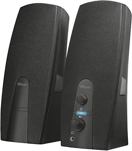 Trust Almo 2.0 PC Speakers for Computer and Laptop, 10 W, USB Powered, Black [Amazon Exclusive]