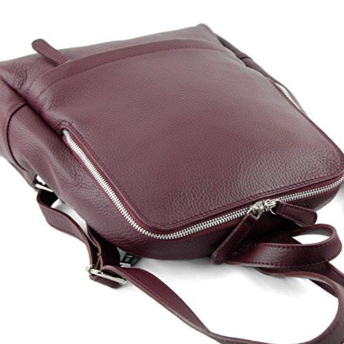 modamoda de - Made in Italy - Bolso mochila  para mujer Rojo granate