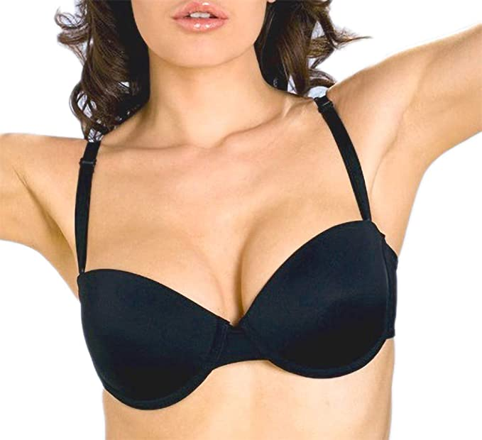 34 36 38 Underwire Multi Way ADD 2 Cup Sizes Padded Strapless Push UP Bra  (36C 5bbbe6ede