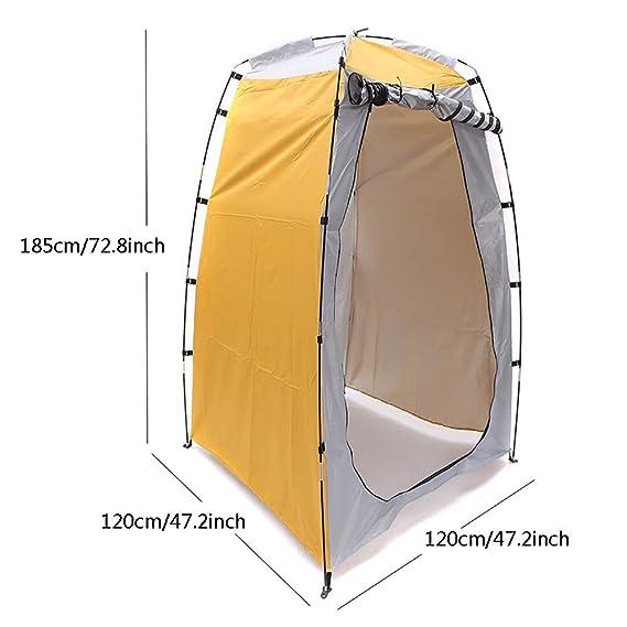 DMBHW Tragbares Camping Umkleidezelt Toilettenzelt Pop Up Duschzelt Wasserfest f/ür Outdoor-Camping Und Indoor-fotoshooting mit Tragetasche 120x120x185cm