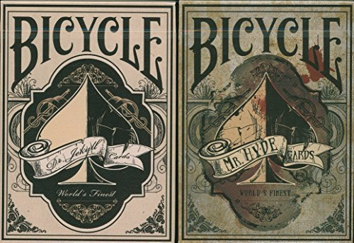 Collector Set 2 Card (Bicycle Dr. Jekyll & Mr. Hyde Playing Cards 2 Deck Set)