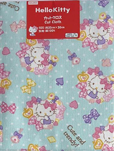 Sanrio Japan Cut Cloth 35×30cm Cotton Craft Fabric Patchwork Scrapbooking (Hello Kitty Blue)
