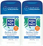 Kiss My Face Aluminum & Paraben Free Active Life Deodorant Stick,...