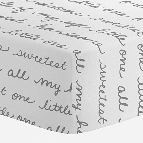 - Carousel Designs Cloud Gray Sweet Boy Crib Sheet - Organic 100% Cotton Fitted Crib Sheet - Made in The USA