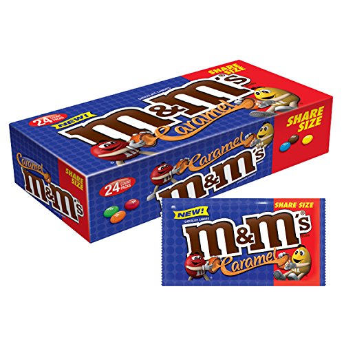 M&M'S Caramel Chocolate Candy Share Size 2.83-Ounce Pouch 24-Count Box]()