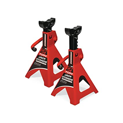 2 Piece Powerbuilt 647511 Heavy Duty 6-Ton Jack Stand