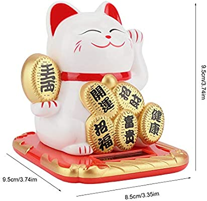 Solar Power Adorable Swing Lucky Beckoning Fortune Welcoming Cat Home Car Decor