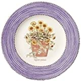 Wedgwood Sarah's Garden Fine Earthenware 8-Inch Blue Salad Plates, Set of 4