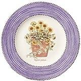 Wedgwood Sarah's Garden Fine Earthenware 8-Inch Blue Salad Plates, Set of 4