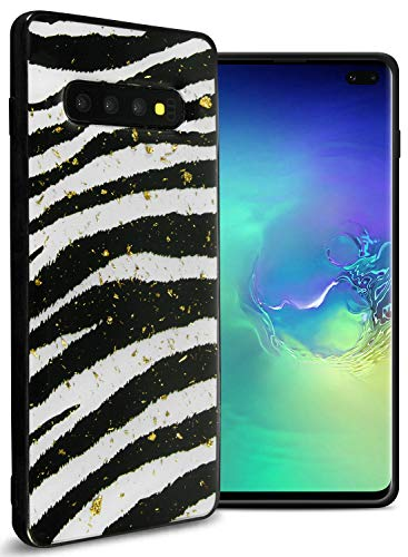 - Giraffe Galaxy S10 Plus Case, CoverON Safari Skin Series Slim Fit TPU Rubber Phone Case with Animal Print Design for The Samsung Galaxy S10 Plus (Zebra Skin)
