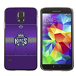 PIG - FOR Samsung Galaxy S5 - Sacramento King Basketball - Dise???¡¯???€????€????¡Ào para el caso de la cubierta de pl???