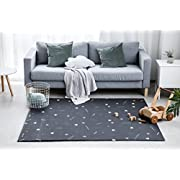Little Bot Baby Play mat, Non-Toxic, odourless and Ultra-Cushioned. Pirates and Triangle (Dark Grey), 71 inch x 59 inch