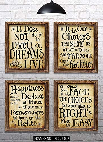 Everything Rustique Harry Potter Quotes Inspired Art& Sayings - Set of 4-8