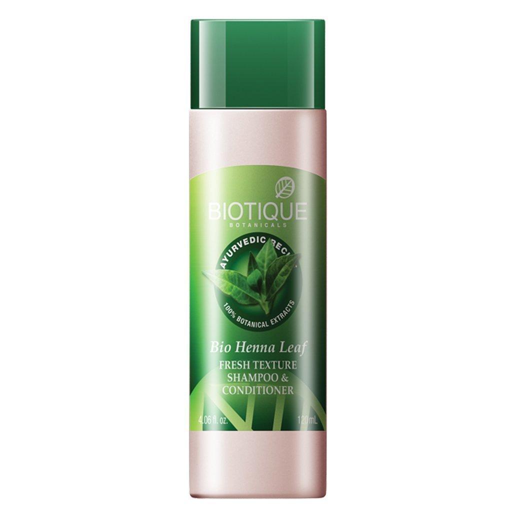 Biotique Bio Heena Leaf Fresh Texture Shampoo And Conditioner, 190Ml