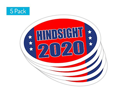 StickerPirate 5 PackOval Car Magnet Trump 2020 Hindsight Dump Trump B TO418