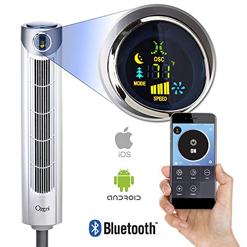 "Ozeri Ultra 42"" Oscillating, Bluetooth Tower Fan"