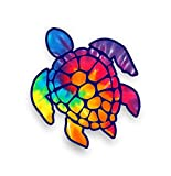 Sea Turtle Decal/sticker (rainbow tie dye)