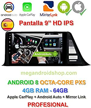 Radio 2din GPS, Android 10, Pantalla IPS, OctaCore PX5 64bits, 4GB DDR3 RAM, 64GB Apple Car Play Android Auto Toyota C HR 2017: Amazon.es: Electrónica