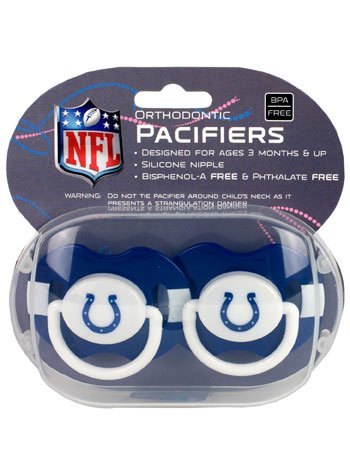 Pacifier2pack Indianapolis Colts 2 Pack Pacifier Nfl Fan National Football League American Game Decoration - Outlet Indianapolis Stores