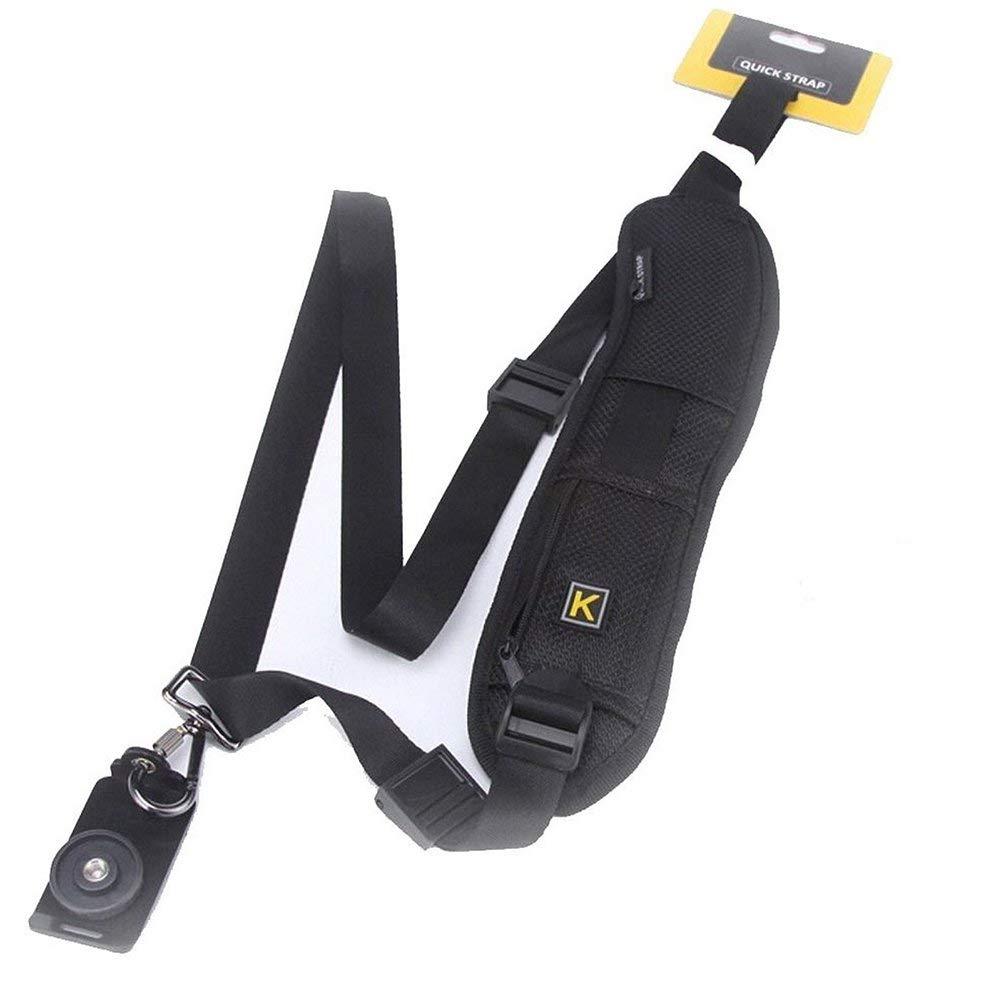 シングル肩スリングベルトネックカメラストラップDSLR SLRカメラクイックリリースブラック B07C4G7BFP