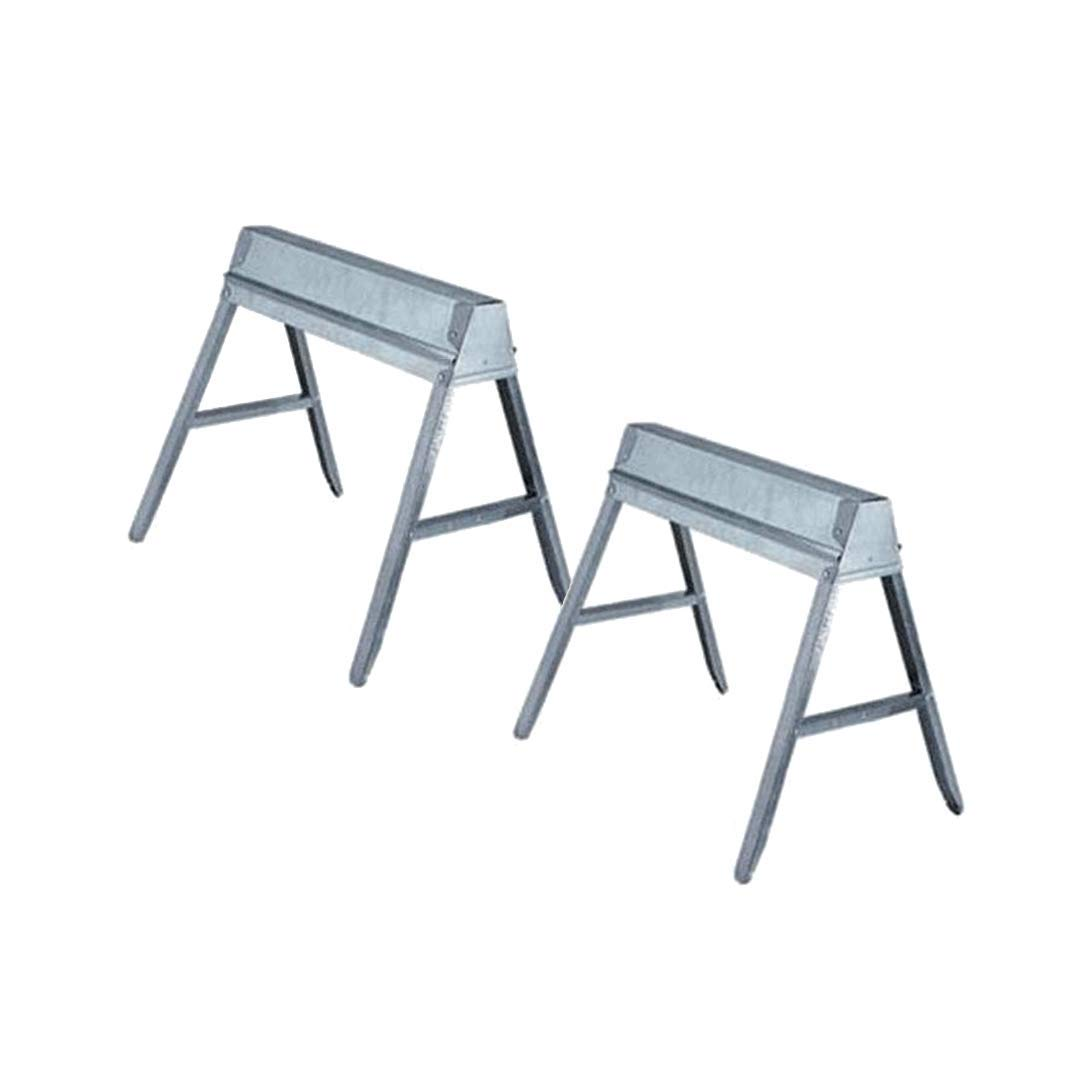 Ss-29 Galvanized Folding Sawhorse(Ts-11) - 2 Pack by Ebco