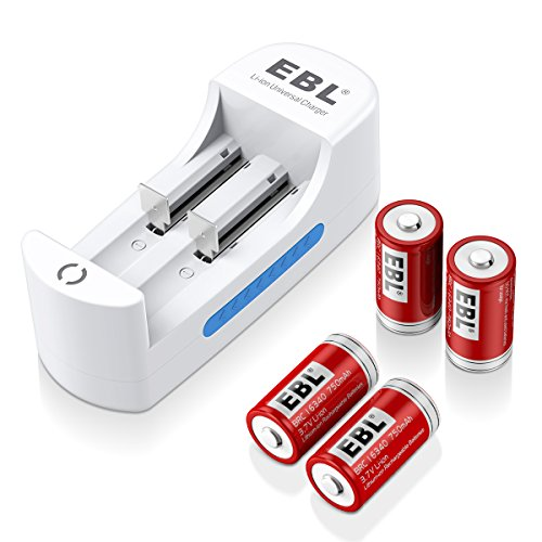 EBL RCR123A Rechargeable Batteries Li-ion 3.7V Battery  with