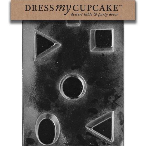 Dress My Cupcake DMCAO046SET Chocolate Candy Mold, Petite Fours, Set of (Petit Four Mold Set)