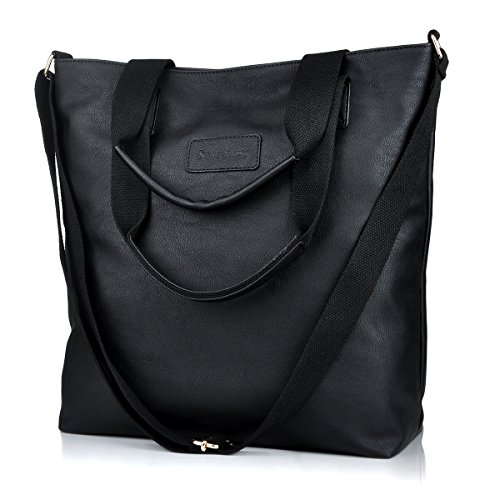 Crossbody Bags for Women,Large Cross Body Bag Multifunction Shoulder Bags Work Tote Handbags (8015-black)